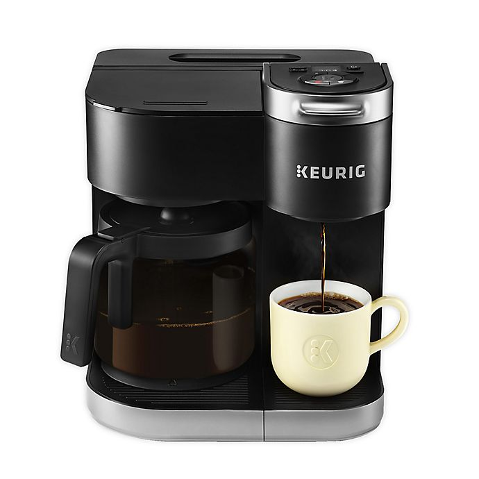 Alternate image 1 for Keurig® K-Duo Single-Serve & Carafe Coffee Maker in Black