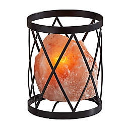 Adesso Trust Himalayan Salt Table Lamp in Black