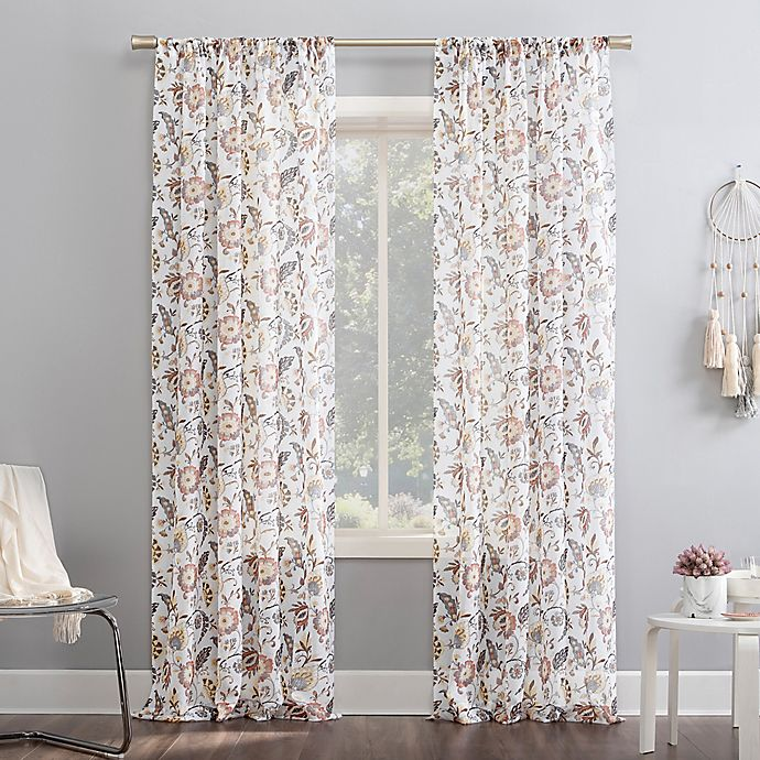 Alternate image 1 for No.918® Sarita Rod Pocket Window Curtain Panel (Single)