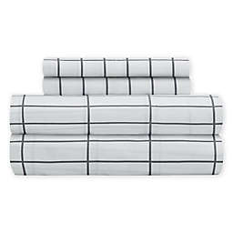 SALT™ Elongated Plaid 300-Thread-Count Twin XL Sheet Set