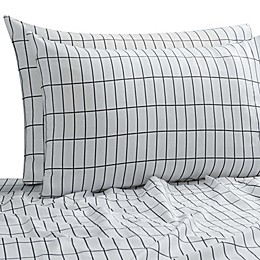 SALT™ Elongated Plaid 300-Thread-Count Standard Pillowcases in White/Multi (Set of 2)