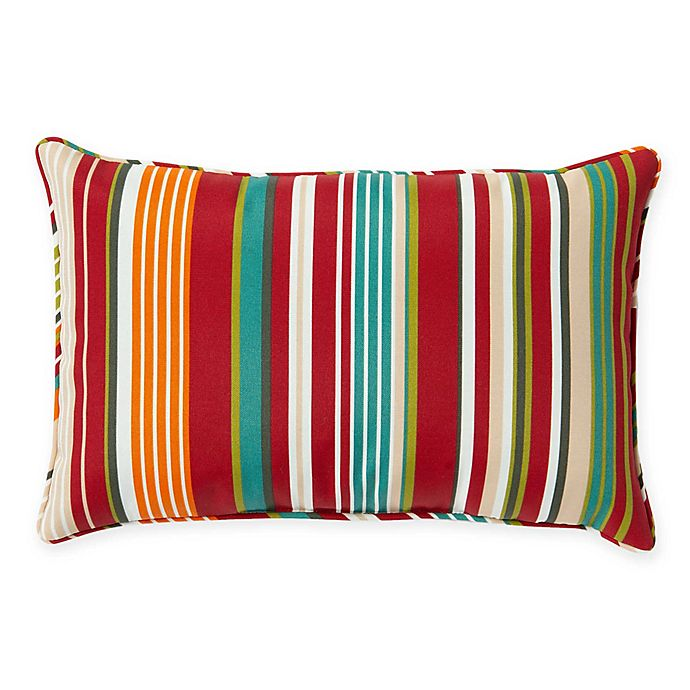 Alternate image 1 for Stripe 13-Inch x 20-Inch Oblong Indoor/Outdoor Throw Pillow