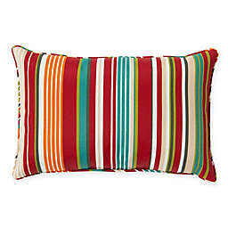 Stripe 13-Inch x 20-Inch Oblong Indoor/Outdoor Throw Pillow