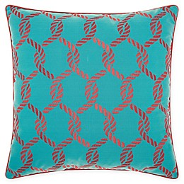 Mina Victory Ropes Square Outdoor Throw Pillow