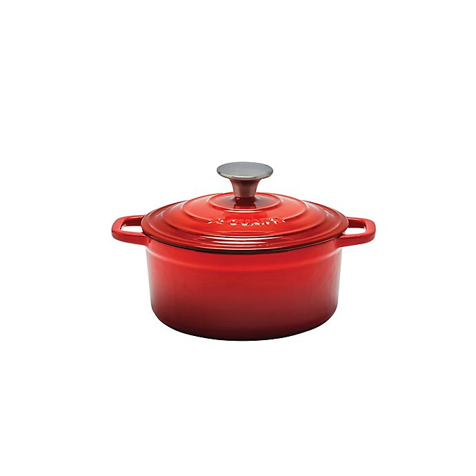 Alternate image 1 for Artisanal Kitchen Supply® 2 qt. Enameled Cast Iron Dutch Oven in Red