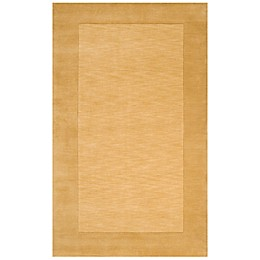Surya Mystique Solid Border Handcrafted Rug in Camel