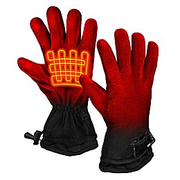 ActionHeat™ One Size AA Battery Heated Fleece Gloves in Black