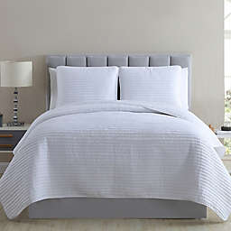 Gloria Vanderbilt Sophie 3-Piece Quilt Set in White