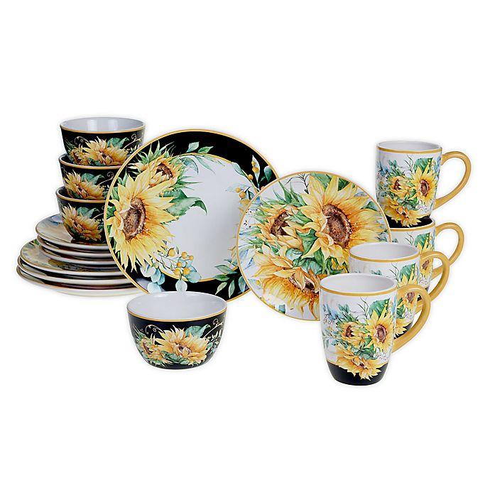 Alternate image 1 for Certified International Sunflower Fields 16-Piece Dinnerware Set