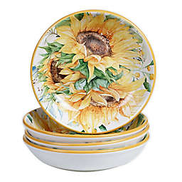 Certified International Sunflower Fields Pasta Bowls (Set of 4)