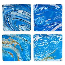 Certified International Fluidity Coastal Square Dinner Plates (Set of 4)