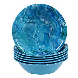 Certified International Fluidity Coastal Melamine All Purpose Bowls (Set of 6)