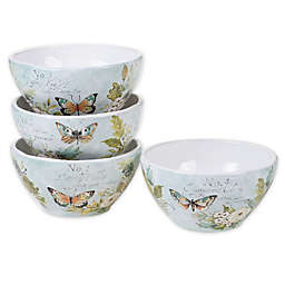 Certified International Nature Garden Ice Cream Bowls (Set of 4)