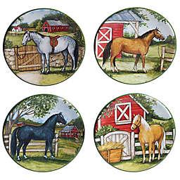 Certified International Clover Farm Appetizer Plates (Set of 4)