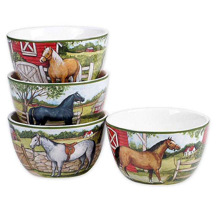 Alternate image 1 for Certified International Clover Farm Ice Cream Bowls (Set of 4)