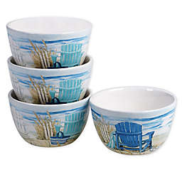 Certified International By the Sea Ice Cream Bowls (Set of 4)