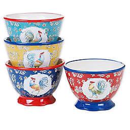Certified International Morning Bloom Ice Cream Bowls (Set of 4)