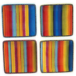 Certified International Sierra Square Appetizer Plates (Set of 4)