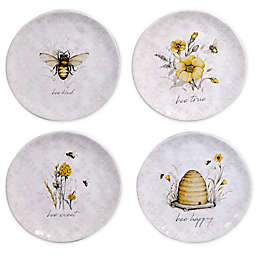 Certified International Sweet as a Bee Salad Plates (Set of 4)