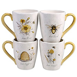 Certified International Sweet as a Bee Mugs (Set of 4)