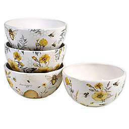 Certified International Sweet as a Bee Ice Cream Bowls (Set of 4)