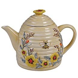 Certified International Sweet as a Bee Beehive Teapot