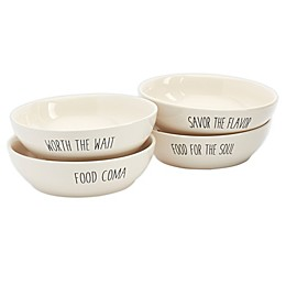 Tabletops Gallery® Talk of the Town Dinner Bowls (Set of 4)