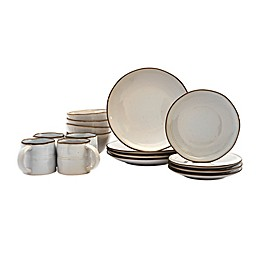 Tabletops Gallery® Geneva 16-Piece Dinnerware Set in Cream