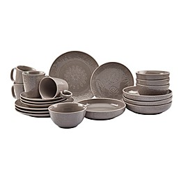 Tabletops Gallery® Sophia 20-Piece Dinnerware Set in Warm Grey