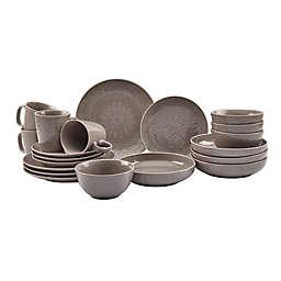 Tabletops Gallery® Sophia 20-Piece Dinnerware Set in Warm Grey