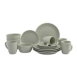 Tabletops Gallery® Boxwood 16-Piece Dinnerware Set in Sage