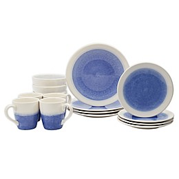 Tabletops Gallery® Ombre Periwinkle 16-Piece Dinnerware Set