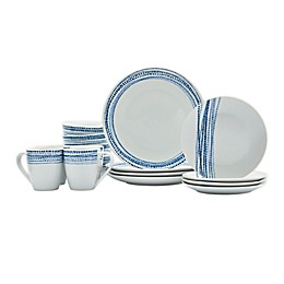 Tabletops Gallery® Aaron Blue 16-Piece Dinnerware Set