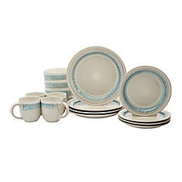 Tabletops Gallery® Milan Teal 16-Piece Dinnerware Set