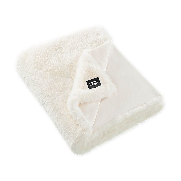Alternate image 1 for UGG® Aussie Textured Faux Fur Reversible Throw Blanket