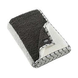 UGG® Sherpa Stripe Throw Blanket in Grey