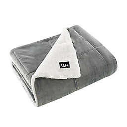 UGG® Avery Quilted Throw Blanket in Seal Grey