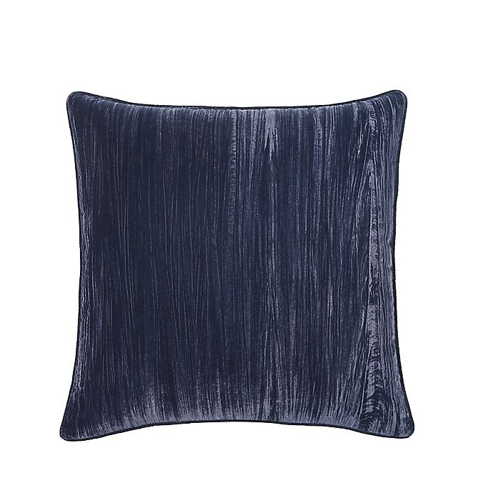Alternate image 1 for Tracy Porter® Crinkle Velvet European Throw Pillow in Indigo