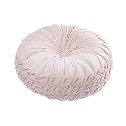 Tracy Porter® Rouched Velvet Round Throw Pillow in Blush
