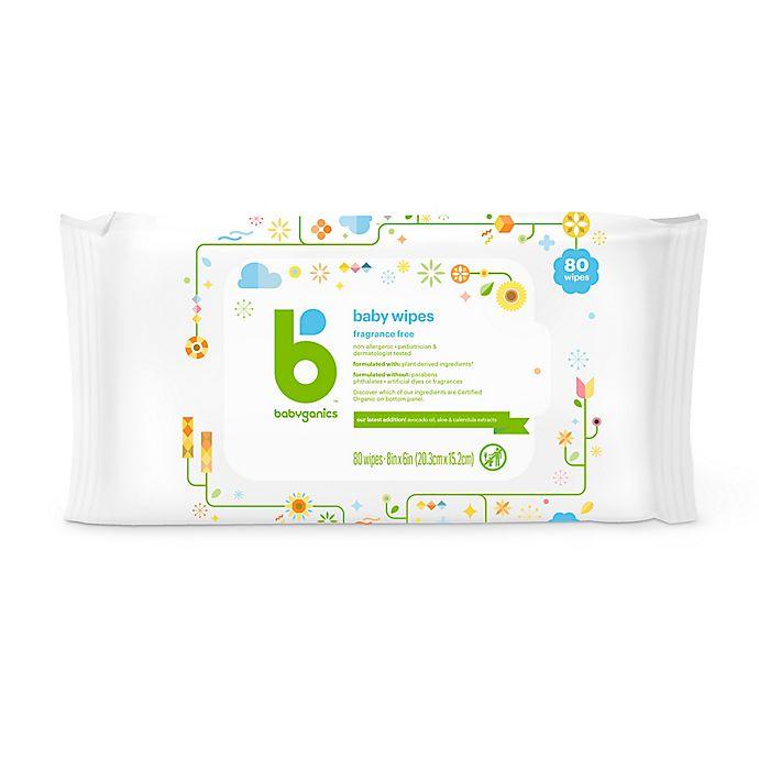 Alternate image 1 for Babyganics™ 80-Count Fragrance-Free Baby Wipes