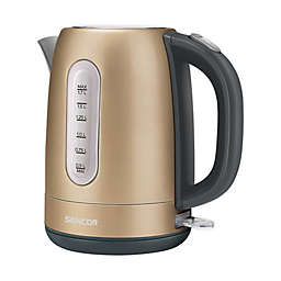 Sencor® 1.7-Liter Stainless Steel Electric Kettle in Champagne