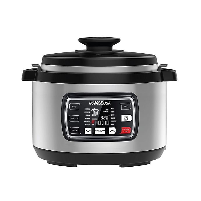 Alternate image 1 for GoWISE USA® Ovate 9.5 qt. Oval Electric Pressure Cooker