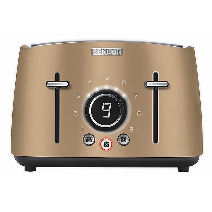 Alternate image 1 for Sencor® 4-Slice Toaster with Rack in Champagne