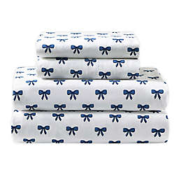 Felicity 144-Thread-Count Percale Cotton Twin XL Sheet Set in Blue