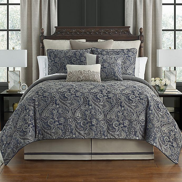 Alternate image 1 for Waterford® Danehill 4-Piece Comforter Set in Blue