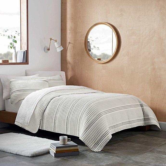 Alternate image 1 for UGG® Devon Stripe 3-Piece Quilt Set