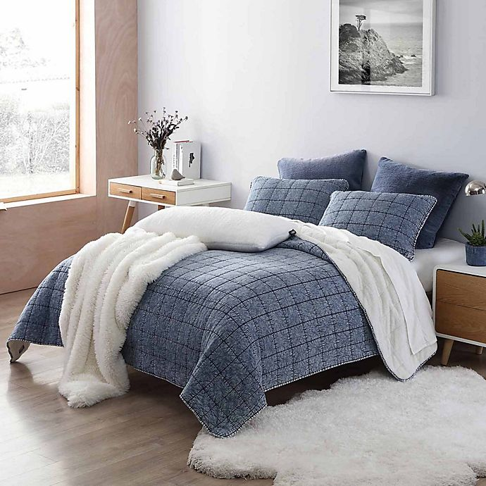Alternate image 1 for UGG® Tompkin 3-Piece Quilt Set in Denim
