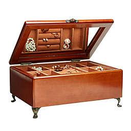Mele & Co. Kinsley Wooden Jewelry Box in Walnut