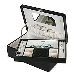 Mele & Co. Bijou Faux Leather Locking Jewelry Box In Black
