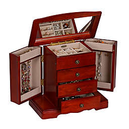 Mele & Co. Harmony Wooden Musical Jewelry Box in Cherry